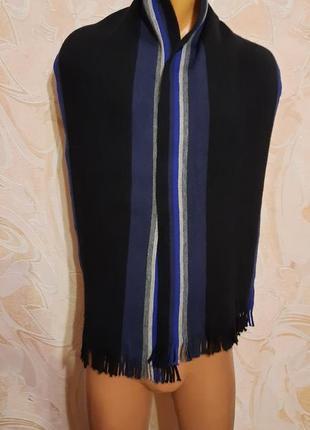 Мужской классический шерстяной шарф rejlers шерсть