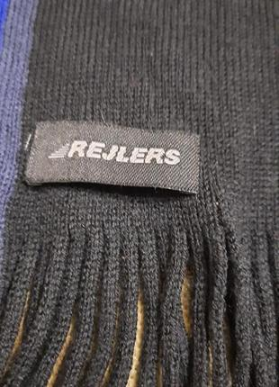 Мужской классический шерстяной шарф rejlers шерсть3 фото