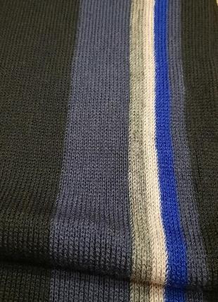 Мужской классический шерстяной шарф rejlers шерсть5 фото