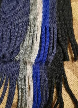 Мужской классический шерстяной шарф rejlers шерсть6 фото