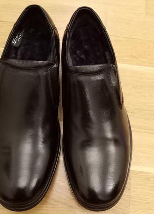 Туфли  мужские зимние на меху. кожа.размеры: 39,40,43
