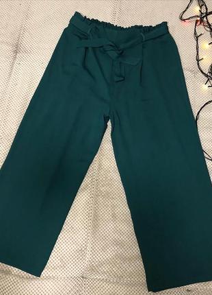 Женские укорочённые кюлоты брюки