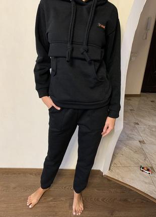 Спортивный костюм женский тёплый, спортивный костюм на флисе с худи