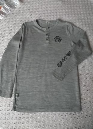 Термореглан з мериносової шерсті термобілизна футболка термо термобелье