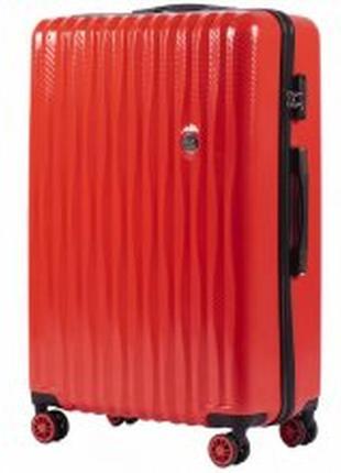 Чемодан малый 4 колеса pc5223/s красный wings (польша)