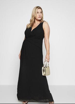 Чёрное платье большого размера tfnk