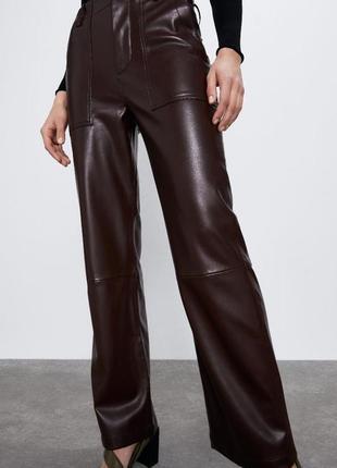 Zara брюки с высокой талией