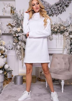 Платье-туника на флисе2 фото