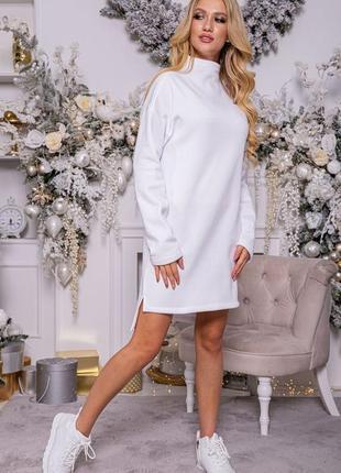 Платье-туника на флисе1 фото