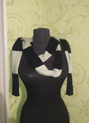 Длинный шарф в полоску 2м