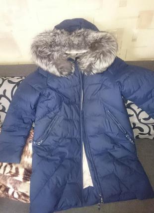 Пуховик пальто (тинсулейт) с чернобуркой