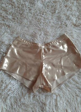 Золотые шорты для pole dance, go go, спортивные шорты  полденса