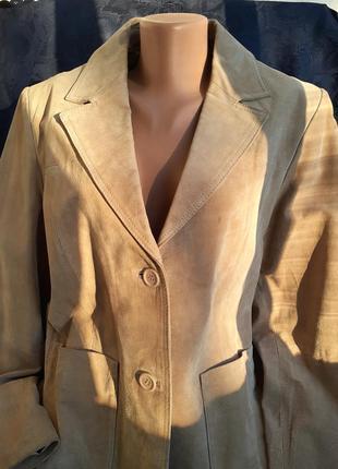 Auluna пиджак куртка натуральная кожа замшевый