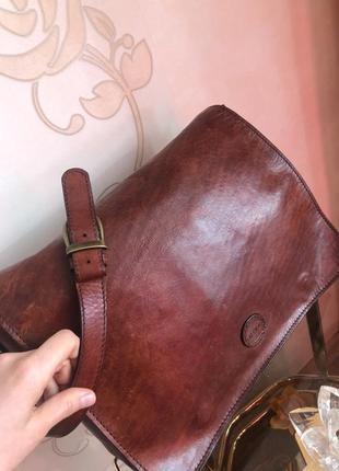 Добротная кожаная мужская сумка портфель , натуральная кожа,