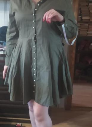 Платье на пуговицах missguided plus1 фото