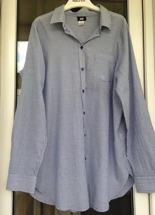 H&m стильная полосатая рубашка с-м