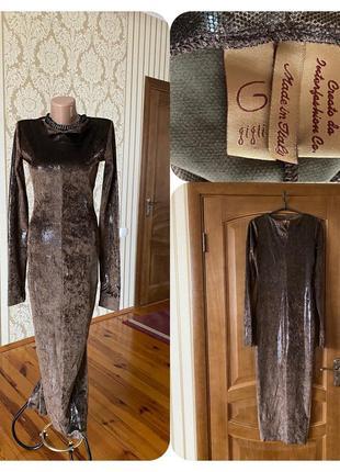 Итальянское бесподобное нарядное вечерние коктейльное платье с шикарной ткани