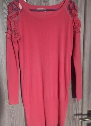 Платье-свитер туника