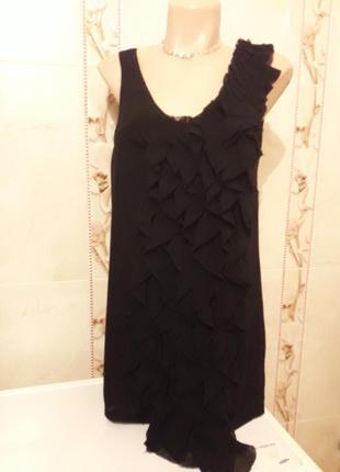 Вечернее короткое платье с рюшем