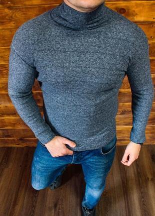 Стильный свитер серого цвета мужской.