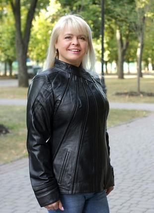 Кожаная курточка по фигуре больших размеров