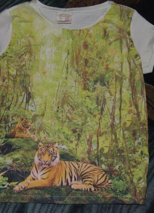 Нарядная футболка девочке 4 - 5 лет zara