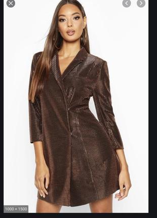 Boohoo стильний на піку популярності плаття-піджак емка