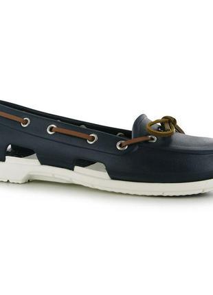 Мокасины crocs beach boat shoes ladies, w7, w8, w9