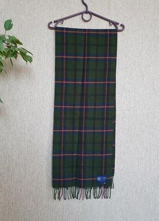 Шикарный шарф от английского бренда green grove weavers mill  оригинал, 100% шерсть
