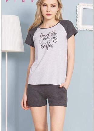 Пижама(шорты+футболка) турция