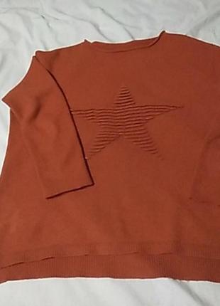 Кофта звезда оранжевая турция 38-40 размер