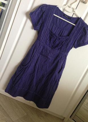 Платье из прошвы, 100% хлопок, юбка на подкладке