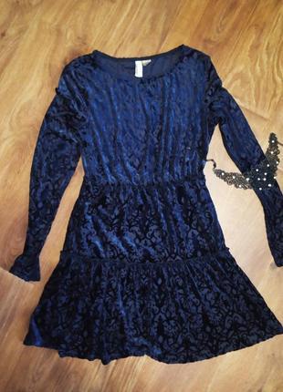 Шикарное платье с нежным велюровым напылением