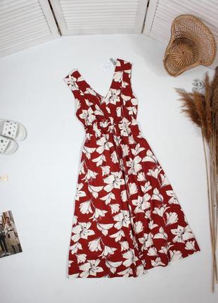 Миди платье с цветами