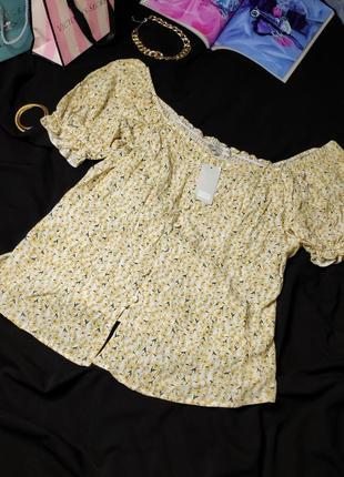 Супермилая блуза в цветочек от f&f, размер l-xl