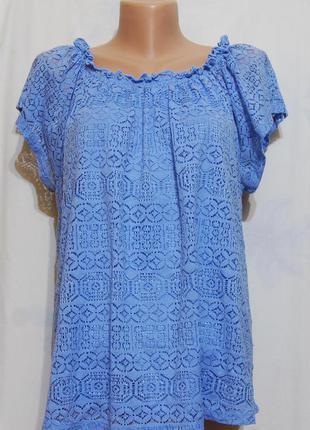 Ажурная футболка/блуза