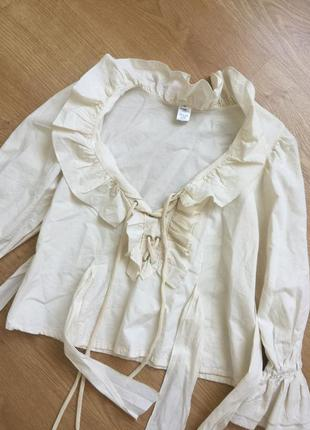 Шикарная блуза. рюши. волан.