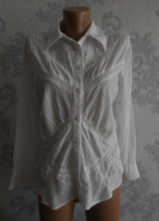 Хлопковая блузка next в идеальном состоянии xl