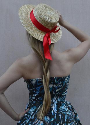 Шляпа канотье с широкими полями