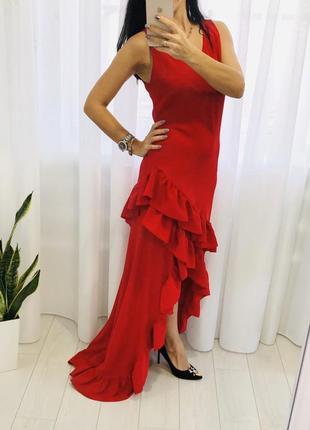 Итальянское шикарное длинное  платье в пол  sienna bee с воланами