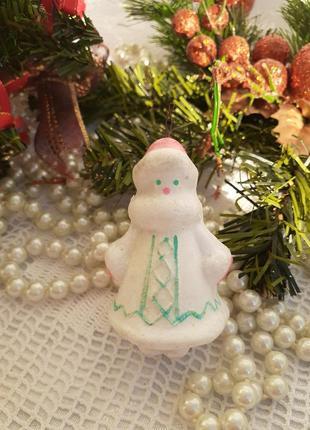 Снегурочка ссср елочная игрушка стеклянная в глазури советская
