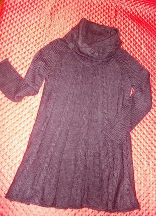 Теплое зимнее платье  с хомутом 48 рр