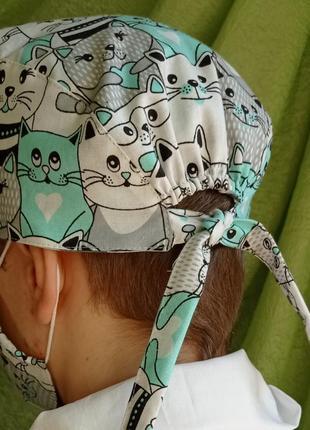 Медицинская шапочка бандана