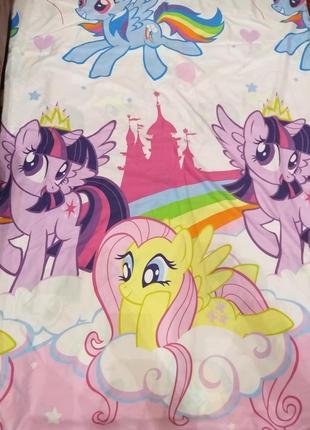 Пододеяльник полуторка с поняшками my little pony