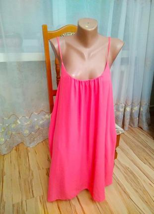 Новое брендовое двойное платье красивая спинка розовый коралл, размер 12-16