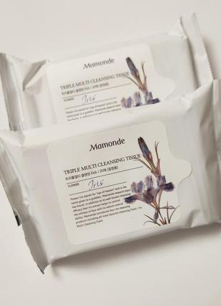 Очищающие салфетки mamonde triple multi cleansing tissue