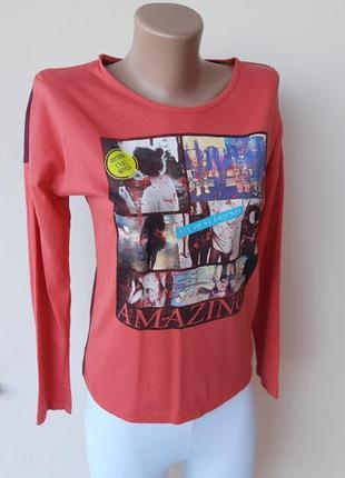 Молодежная футболка с длинным рукавом
