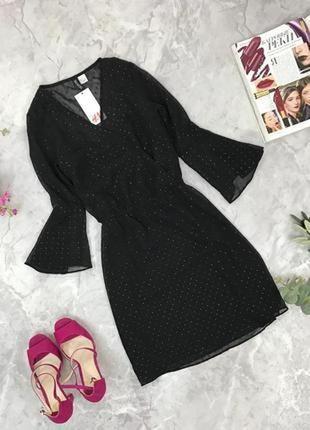 Нарядное платье со сверкающими вкраплениями h&m  dr1850095 h&m