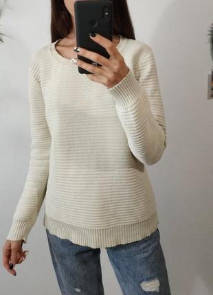 Белый свитер хлопок second female