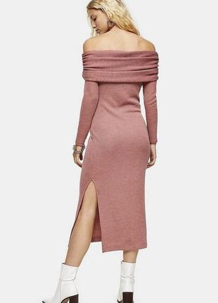 Теплое платье с разрезом снизу от topshop 🌸